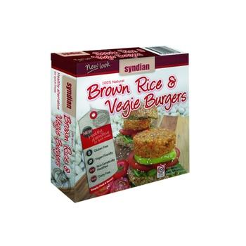 Syndian Brown Rice & Vegie Burgers 400g