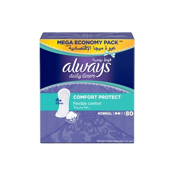 Always Comfort and Protection Liner 80 pcs