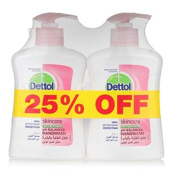 Dettol Skincare Handwash 2 x 200 ml @ 25% Off