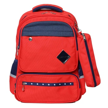 """Back Pack 16.5"""" with pencil Case assorted"""