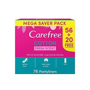Carefree Daily Panty Liners Cotton Fresh Scent Pack Of 76