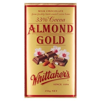 Whittakers Almond Gold Bar 200g