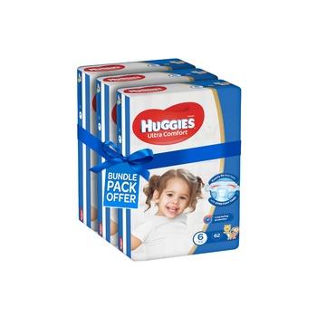 Huggies Ultra Comfort Diapers Size 6 Jumbo Pack 15+ kg (Pack Of 186 Diapers)