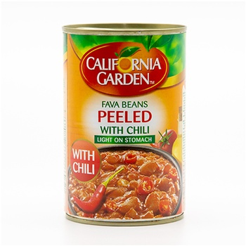 California Garden Peeled Foul With Chili 450g