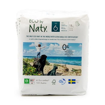 Naty Nature Babycare Pull On Pants Size 6 Carry Packs 18 Pants