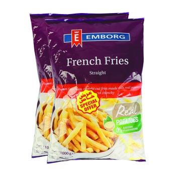 Emborg French Fries Stright Cut 1kg 2Pk