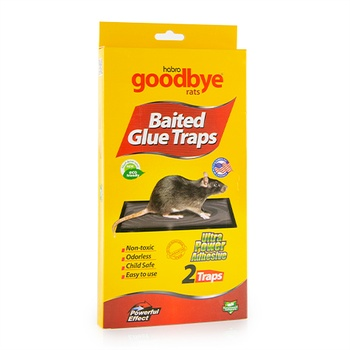 Habro Goodbye Rat Control Glue Baited Glue Traps 2 Pieces