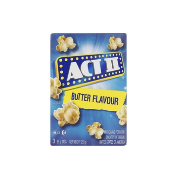 Act II Microwave Popcorn Butter Flavour 255g