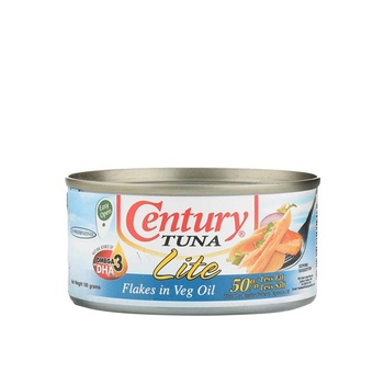 Century Tuna Flak In Vegetable Oil Lite 180g