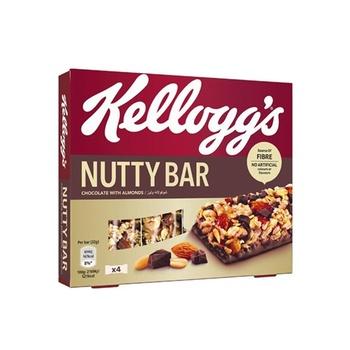 Kellogs Nutty Bar Chocolate Almond 4X32g