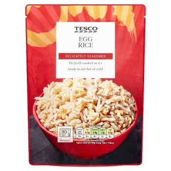 Tesco Microwavable Egg Fried Rice 250G