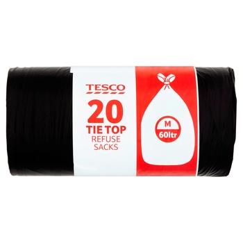Tesco Standard Tie Top Refuse 20 Pack