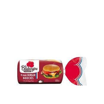 La Boulangere Brioche Burger Bun 4 Pieces
