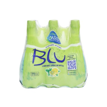 Oasis Blu Sparkling Lemon Mint Water 6 x 500ml