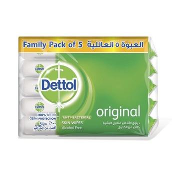 Dettol Skin Wipes Economy Pack Original 10s (5 Packs) @ 10% Off