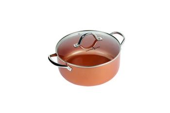 Copper Chef Round Casserole Pan with Glass Lid 20cm