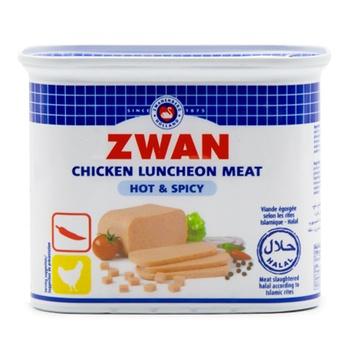 Zwan Chicken Luncheon Meat Hot And Spicy 340g
