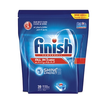 Finish Dishwasher Detergent All-in-One Tabs Doy Pack 39s