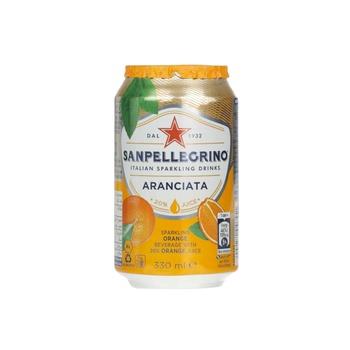 Sanpellegrino Sparkling Fruit Beverage Aranciata/Orange Can 330ml