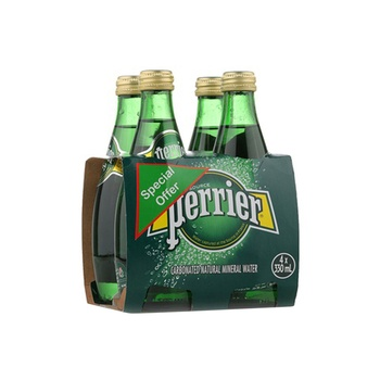 Perrier sparkling water 4 x 330ml