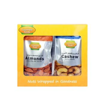 Goodness Foods  Almonds R&S 200g+Cashew 175g
