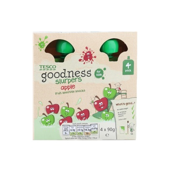 Tesco Goodness Apple Fruit Slurpers 90g