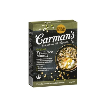Carmans Original Fruit Free Muesli 500g