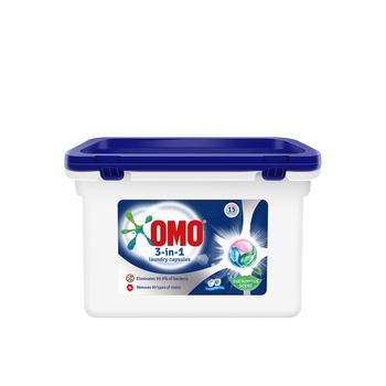 OMO 3in1 Laundry Capsules With Eucalyptus Scent 15 Capsules