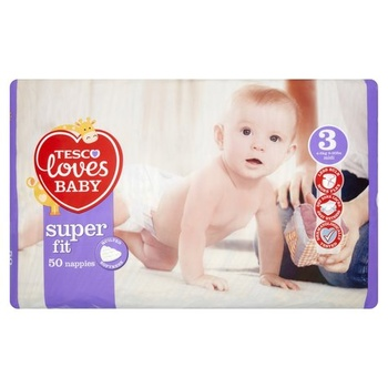 Tesco Loves Baby Fit Size 3 50s