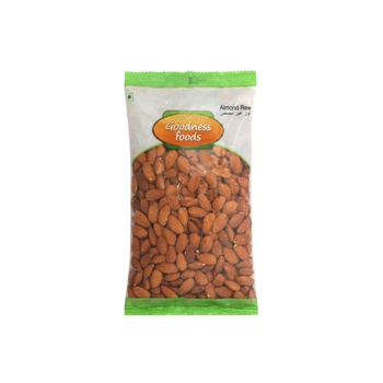 Goodness Foods Almond Raw 500g