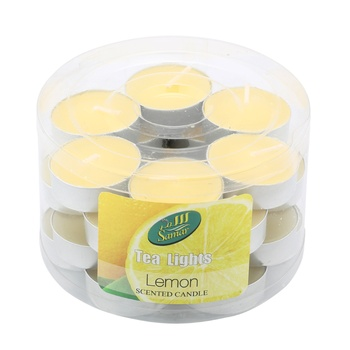 Samar Tea Light Candle With Fragrance 24s - Lemon