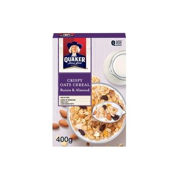 Quaker Cereal Raisin & Almond 400g