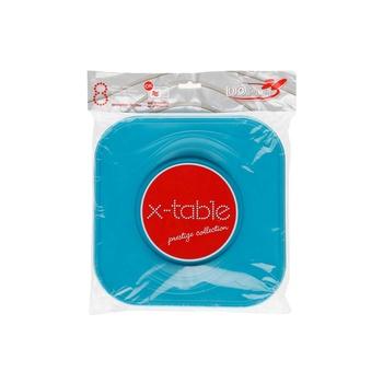 Dopla Disposables 8 Big Squared Plates 23x23 Ottanio (80019)