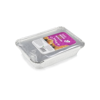 Tesco Oven Foil Med Tray with Lids 3 packs