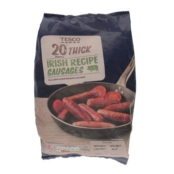 Tesco 20 Thick Irish Recipe Sausage 900g
