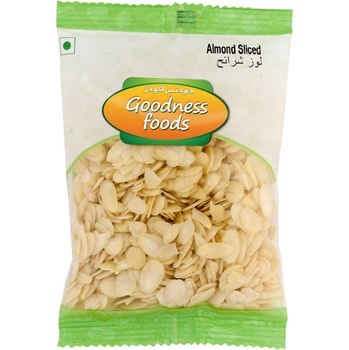 Goodness Foods Almond Blanched Sliced 100g
