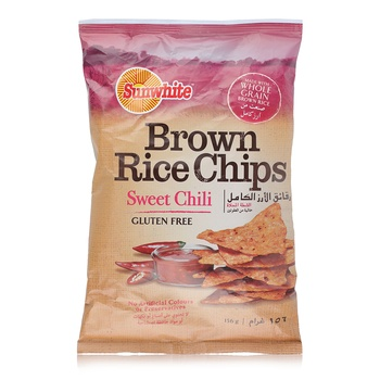 Sunwhite Brown Rice Chips Sweet Chili 156G