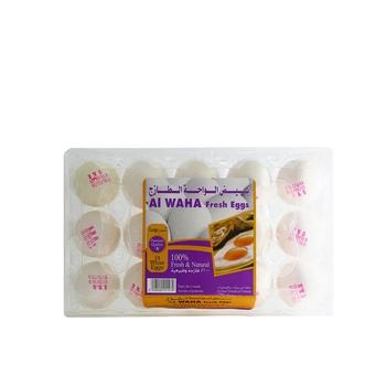 Al Waha White Fresh Eggs Large 1 X 15 pcs
