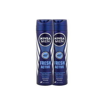Nivea Men Deodorant Fresh Active Spray 150ml Pack Of 2