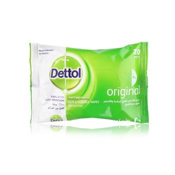 Dettol Anti-Bacterial Multi-Use Wipes Original 20s