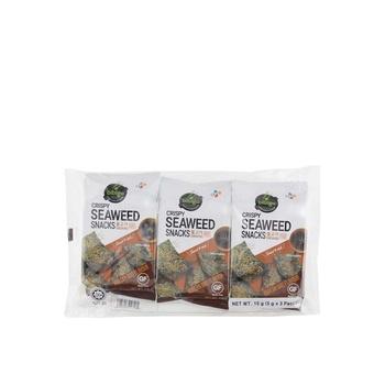 CJ Bibigo Crispy Seaweed Snacks Bbq 3 X 5g