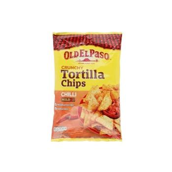 Old El Paso Tortilla Chips Mild Chilli 185g