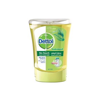 Dettol No Touch Hand Wash Soap Green Tea & Ginger 250 ml (Refill)