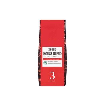 Tesco House Blend Coffee Beans 227g