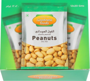 Goodness Foods Peanut Roasted & Salted 12 x 20g