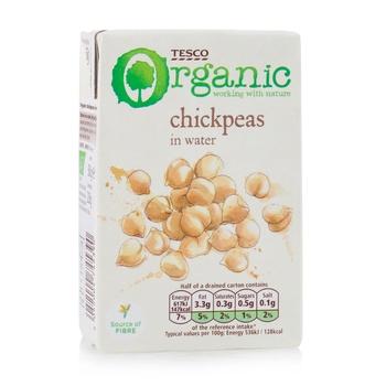 Tesco Organic Chick Peas 380G