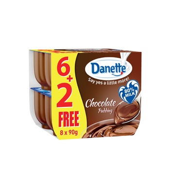 Danette chocolate dessert with biscuit top 96g x6 +2free