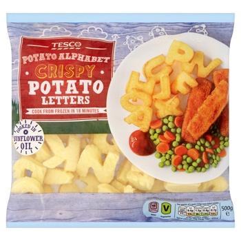 Tesco Crispy Potato Letters 500g