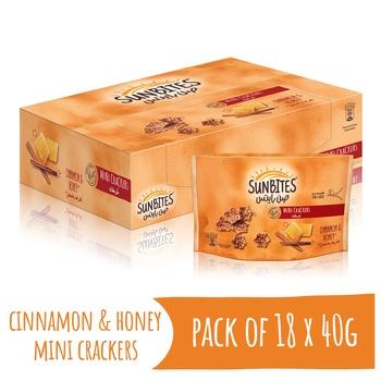 Sunbites Cinnamon & Honey Mini Crackers 18 x 40g