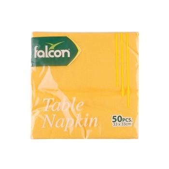 Falcon Yellow Napkin 33X33 50s